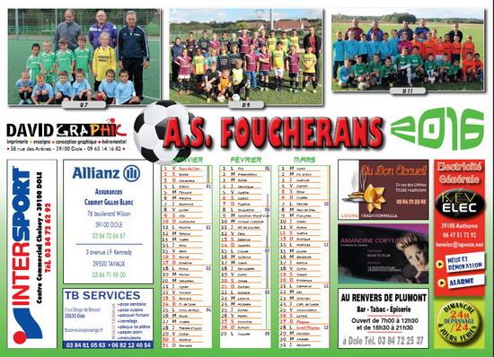Calendrier ASF 2016